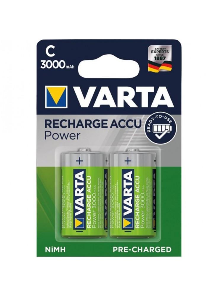 Baterijas C izmēra HR14 VARTA uzlādējamās, iepakojums (2gab.)